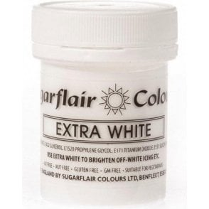 White - Extra Concentrated Paste Gel Food / Icing Colourings
