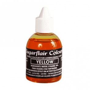 Yellow - Edible Airbrush Liquid Colouring 60ml