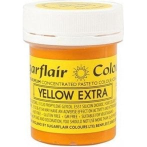 Yellow - Extra Concentrated Paste Gel Food / Icing Colourings
