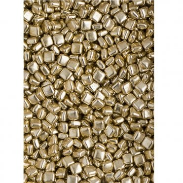 Gold Metallic Square Dragees Luxe Sprinkles 100g