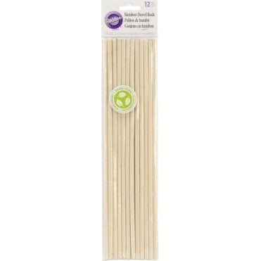 "12"" Bamboo Wooden Dowel Rods - Pack of 12"