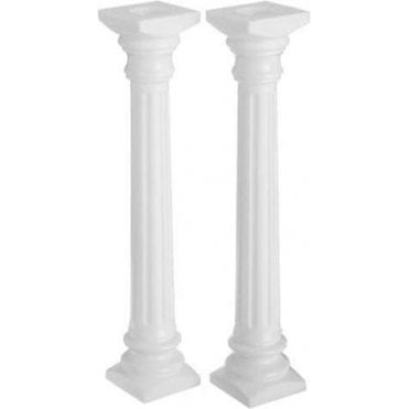 13-3/4 Inches, Roman Column Pillars - Pack of 2