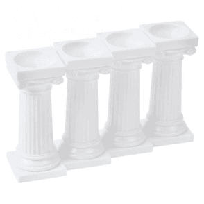 3 Inches, Grecian Pillars - Pack of 4