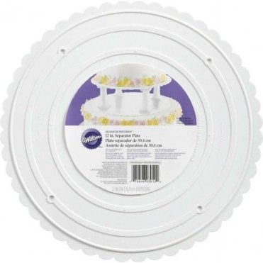 "Decorator Preferred 12"" Scalloped Cake Separator Plate - Choose Your Sizes"
