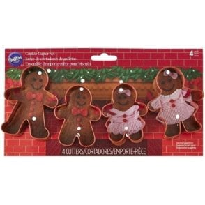 Gingerbread Family Fondant Icing Cookie Cutter Set