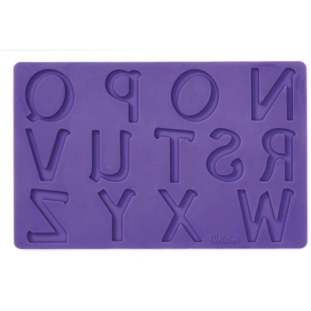 Wilton Cake Decorating Letters : Pack of 4 - Letters & Numbers Fondant Cake Decorating ...