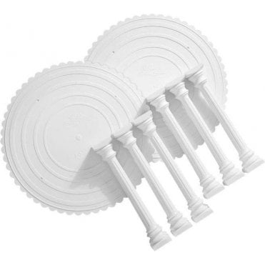 Roman Column & Plate Set - 8 Count