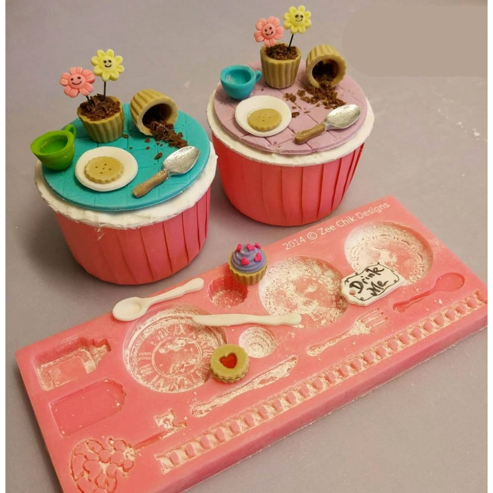Wonderland Mould Cake Decorating Silicone Mould By Zee